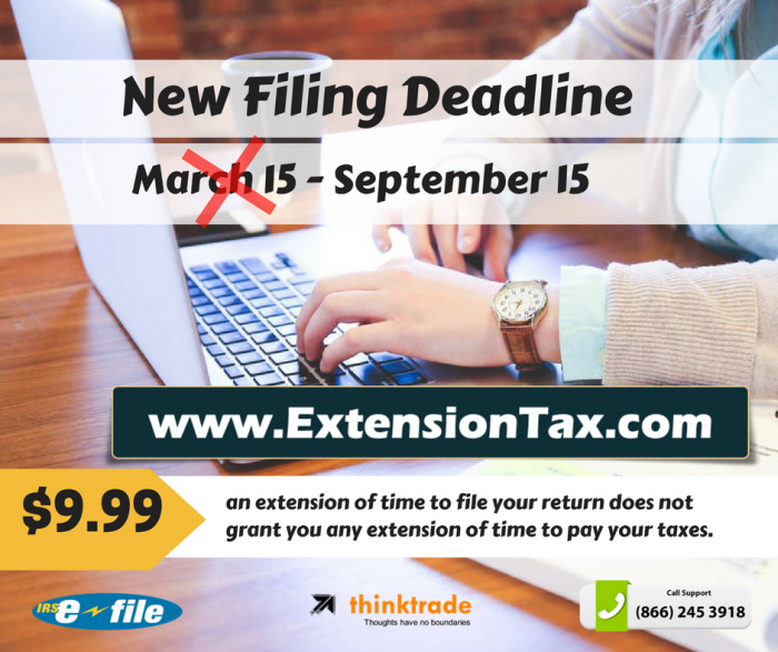 March 15 Filing Deadline
