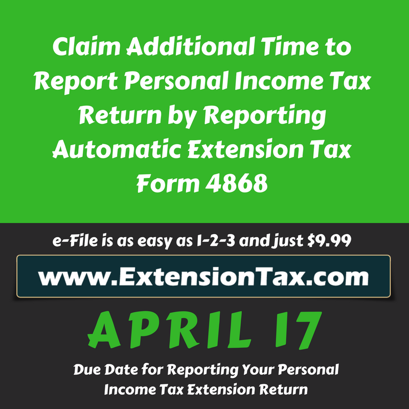 Tax Time Guide Request Online Extension Get 6 More Months To File