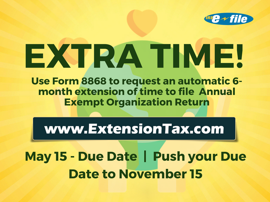 Extension of time for exempt organisations